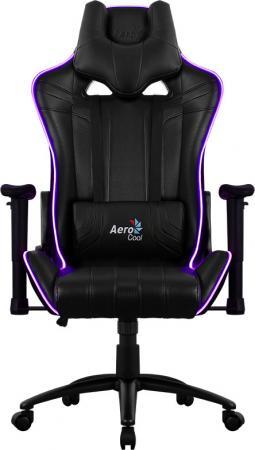 Кресло компьютерное игровое Aerocool AC120 RGB-B черный перфорация RGB подсветка 4713105968255 компьютерное кресло aerocool ac80c bw