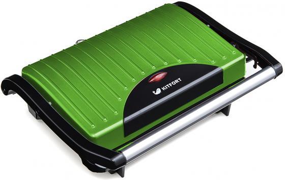 Сэндвичница KITFORT Panini Maker KT-1609-3 зелёный чёрный вафельницы kitfort бутербродница panini maker кт 1609 3 зеленый