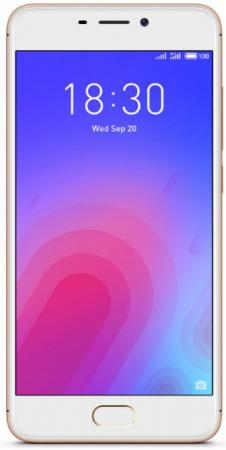 Смартфон Meizu M6 золотистый 5.2 16 Гб LTE Wi-Fi GPS M711H_16GB_GOLD телефон meizu m5 note серебристый белый 5 5 16 гб lte wi fi gps 3g