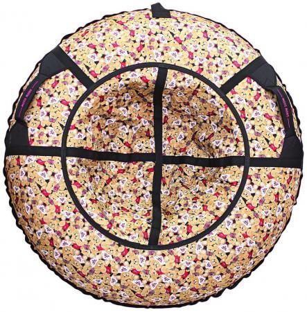 Тюбинг R-Toys Медвежата, флаг красный до 120 кг полипропилен ПВХ разноцветный рисунок тюбинг rt 7 monsters до 120 кг разноцветный пвх