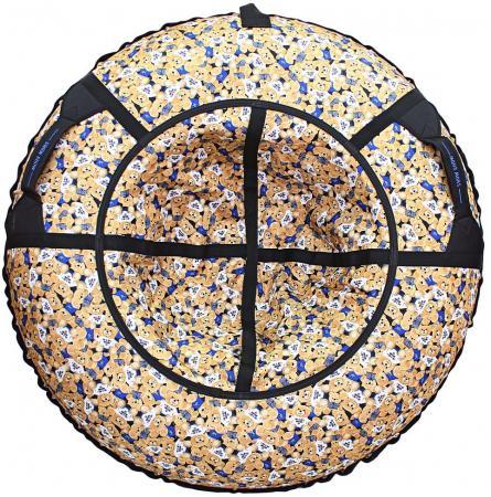 Тюбинг R-Toys Медвежата, флаг синий до 120 кг ПВХ полипропилен разноцветный рисунок тюбинг rt жемчужины до 120 кг пвх полипропилен рисунок диаметр 118 см