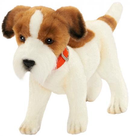 """Мягкая игрушка собака Hansa """"Джек Рассел терьер"""" 31 см белый коричневый текстиль плюш 5901 цена и фото"""