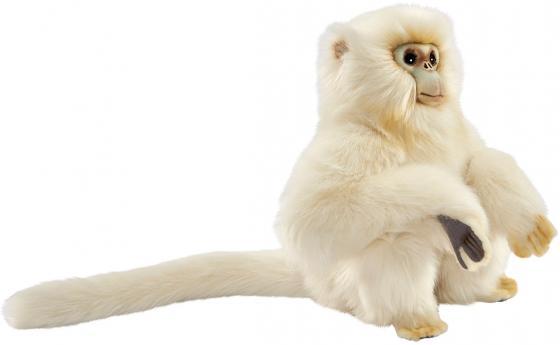 Мягкая игрушка обезьянка Hansa Курносая мартышка 30 см белый искусственный мех 6765 мягкие игрушки hansa обезьянка сидящая палевая 20 см