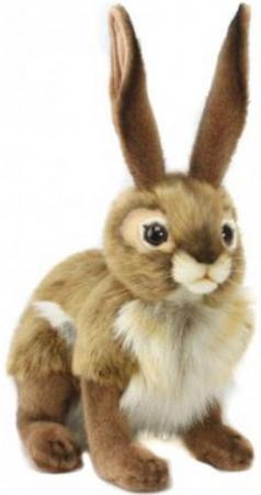 Мягкая игрушка заяц Hansa Чернохвостый заяц 30 см искусственный мех текстиль 3584 швейная машина astralux blue line i