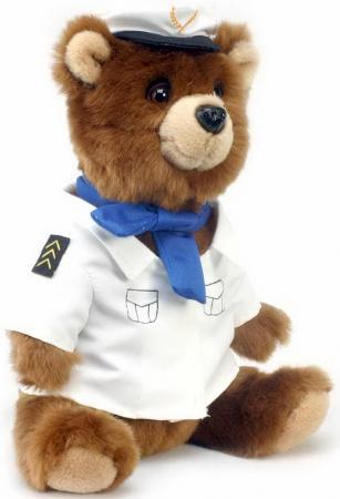 4032 Медведь-пилот, 25 см hansa мягкая игрушка медведь черный