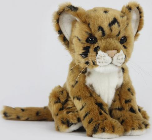 Мягкая игрушка леопард Hansa Детеныш леопарда 17 см искусственный мех пластик