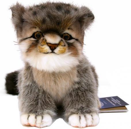 Мягкая игрушка котенок Hansa Котенок манула 7299 17 см серый текстиль искусственный мех пластик hansa мягкая игрушка утенок