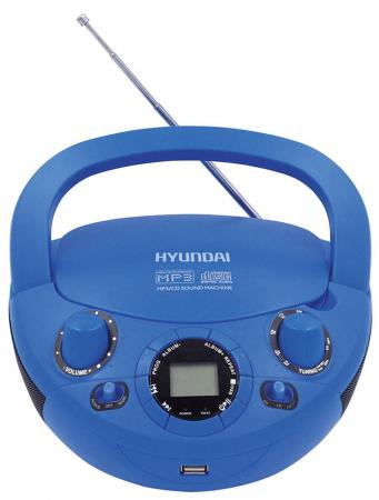 Магнитола Hyundai H-PCD220 синий цена и фото