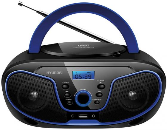 Магнитола Hyundai H-PCD160 черный/синий hyundai h pcd160 black blue магнитола