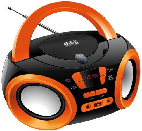 Магнитола Hyundai H-PCD120 черный/оранжевый магнитола rolsen rbm411or оранжевый