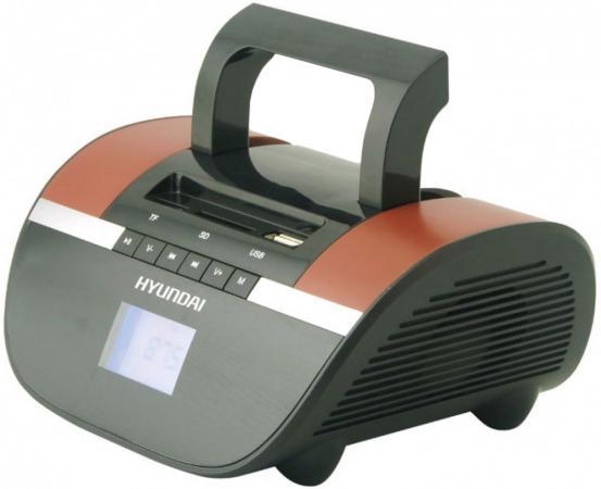 Магнитола Hyundai H-PAS240 черный/коричневый цена и фото
