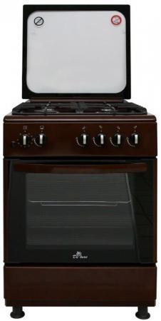 Газовая плита De Luxe 606040.24-002г (кр) ЧР коричневый