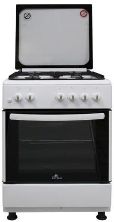 Газовая плита De Luxe 606040.24-001г (кр) ЧР белый газовая плита de luxe 506040 04г чр газовая духовка белый