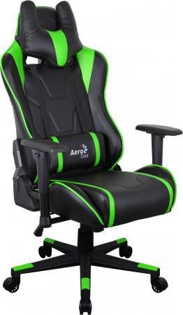 Кресло компьютерное игровое Aerocool AC220 AIR-BG черно-зеленое с перфорацией 4713105968415 недорго, оригинальная цена