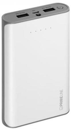 Внешний аккумулятор Power Bank 12000 мАч Deppa Prime Line белый аккумулятор red line rs 12000 power bank 12000mah silver ут000015559