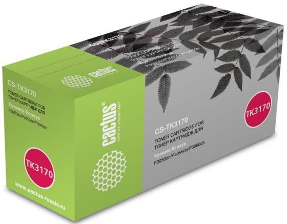 Тонер Картридж Cactus CS-TK3170 черный (15500стр.) для Kyocera Ecosys P3050dn/P3055dn/P3060dn принтер лазерный kyocera p3060dn
