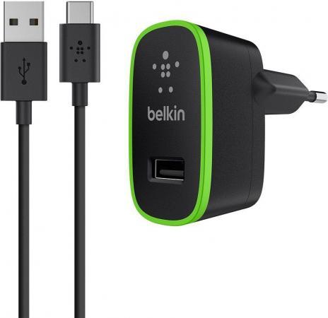 Сетевое зарядное устройство Belkin F7U001vf06-BLK 2.1A USB-C черный зарядное устройство belkin boost up universal car charger lightning f8j154bt04 blk black