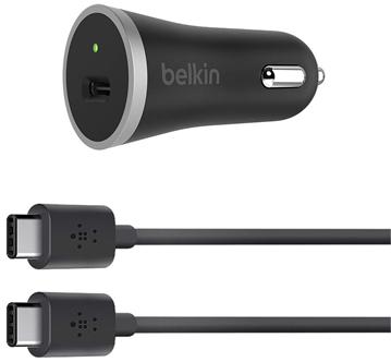 Автомобильное зарядное устройство Belkin F7U005bt04-BLK 3А USB-C черный зарядное устройство belkin boost up universal car charger lightning f8j154bt04 blk black