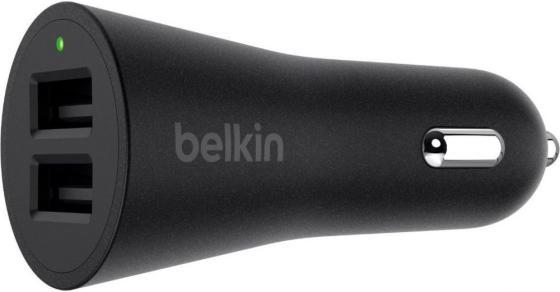 Автомобильное зарядное устройство Belkin F8M930btBLK 2.4А 2 х USB черный автомобильное зарядное устройство buro tj 201b 2 х usb 4 8 а черный