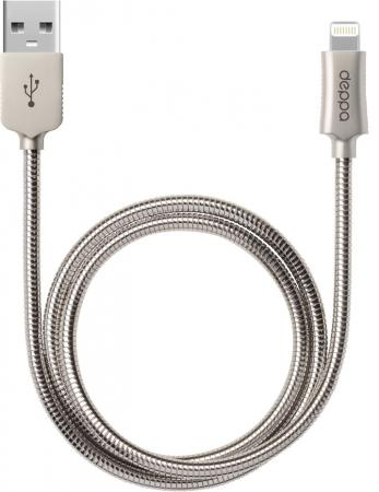 Кабель Lightning 1.2м Deppa Steel круглый 72272 кабель lightning 1 2м deppa 72266 круглый
