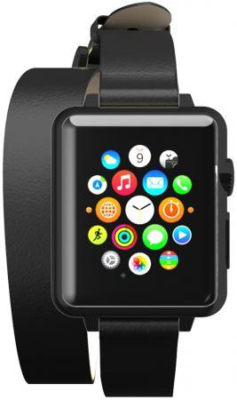 Ремешок Incipio Reese Double Wrap Watch Band 42mm черный WBND-013-BLK ремешок incipio premium leather watch band для apple watch 42 мм коричневый