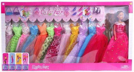Кукла Defa Lucy Гардероб, в наборе 12 платьев и 12 аксесс.,в ассорт., кор. кукла defa lucy с акс в ассорт