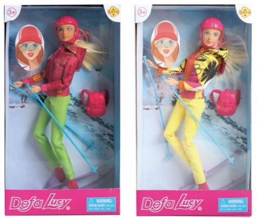 Кукла Defa Lucy Лыжница, шарнирная, в ассорт., кор. кукла defa lucy с акс в ассорт