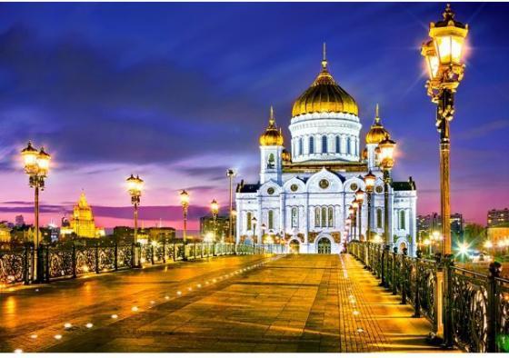 Пазл 1000 элементов Кастор Храм Христа Спасителя, Москва пазл кастор озеро канада 1000 элементов