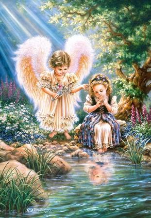 Пазл 1500 элементов Кастор Ангел с девочкой пазл 500 элементов кастор ангел в саду