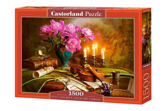 Пазл 1500 элементов Кастор Натюрморт-скрипка и цветы