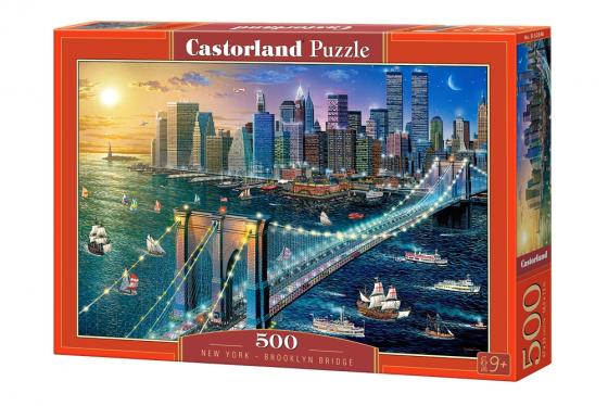 Пазл 500 элементов Кастор Бруклинский мост пазлы castorland пазл храм в санкт петербурге 500 элементов