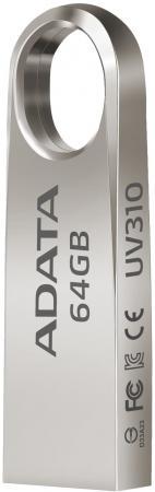 Флешка USB 64Gb A-Data UV310 USB3.0 AUV310-64G-RGD золотистый usb flash drive 32gb a data dashdrive uv310 usb 3 0 gold auv310 32g rgd