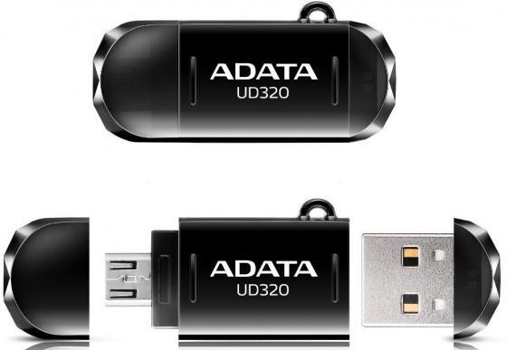 Флешка USB 64Gb A-Data UD320 USB2.0/MicroUSB AUD320-64G-RBK черный флешка usb 64gb a data uc330 usb2 0 microusb auc330 64g rbk серебристый черный