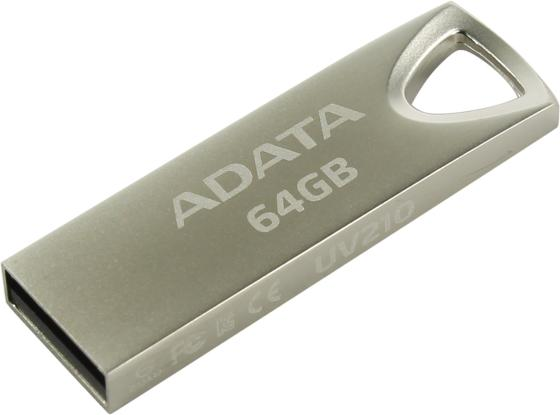 Флешка USB 64Gb A-Data UV210 USB2.0 AUV210-64G-RGD серебристый usb flash drive 64gb a data uv210 silver auv210 64g rgd