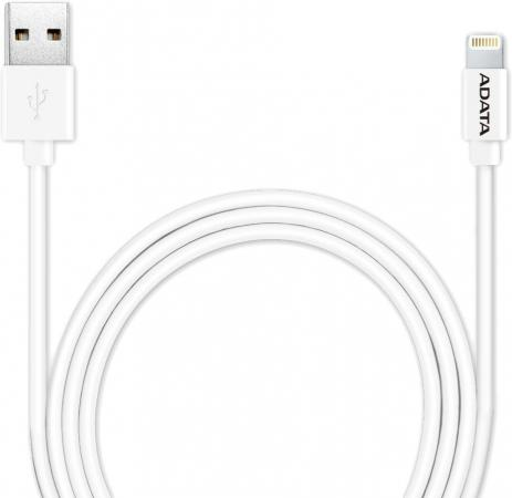 Кабель Lightning 1м A-Data круглый AMFIPL-100CM-CWH кабель для ipod iphone ipad adata amfipl 100cm cbk