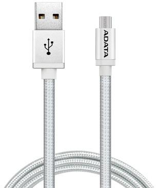 Кабель microUSB 1м A-Data круглый AMUCAL-100CMK-CSV кабель usb a data amfial 100cmk crg 1м amfial 100cmk crg