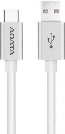 Кабель Type-C 1м A-Data круглый белый ACA2AL-100CM-CSV orico ecu type c to type a data sync charge cable