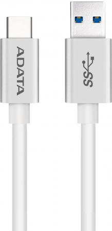 Кабель Type-C 1м A-Data круглый белый ACA3AL-100CM-CSV orico ecu type c to type a data sync charge cable