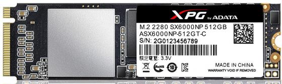 Твердотельный накопитель SSD M.2 512Gb A-Data SX6000 Read 1000Mb/s Write 800Mb/s PCI-E ASX6000NP-512GT-C накопитель ssd a data adata ultimate su800 512gb asu800ss 512gt c