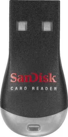 Картридер внешний USB 2.0 SanDisk черный SDDR-121-G35