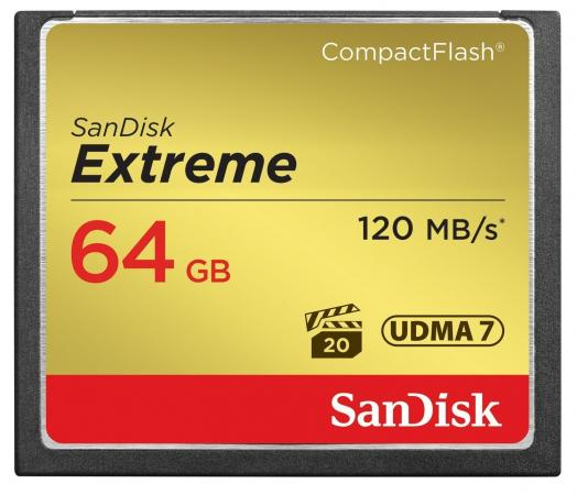 Карта памяти Compact Flash Card 64Gb SanDisk SDCFXSB-064G-G46 недорого
