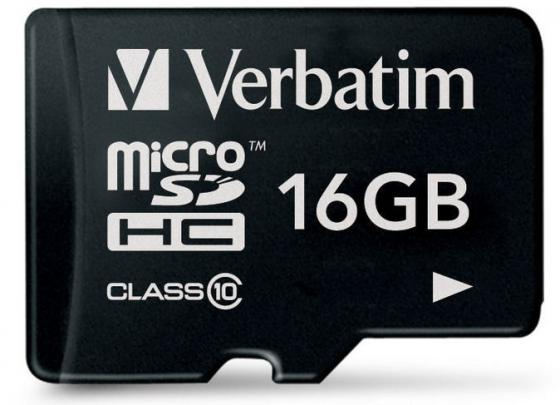 Карта памяти Micro SDHC 16GB Class 10 Verbatim 44010 карта памяти sdhc micro sony sr 32uya
