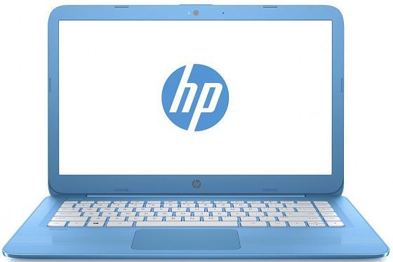 Ноутбук HP 14-ax011ur 14 1366x768 Intel Celeron-N3060 32 Gb 2Gb Intel HD Graphics 400 голубой Windows 10 Home 2EQ28EA nokotion original 773370 601 773370 001 laptop motherboard for hp envy 17 j01 17 j hm87 840m 2gb graphics memory mainboard