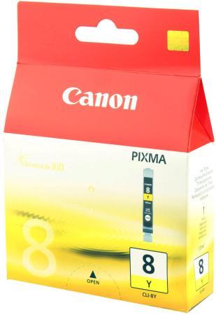 Картридж Canon CLI-8Y для Pixma iP6600D iP4200 IP5200 желтый картридж cli 8y желтый pixma mp800 mp500 ip6600d ip5200 ip5200r ip4200