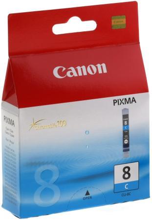 Картридж Canon CLI-8C для Pixma iP6600D iP4200 IP5200 голубой картридж canon cli 8pc для pixma ip6600d голубой фото