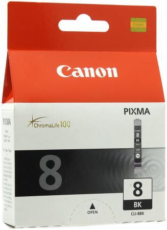 Картридж Canon CLI-8BK для Pixma iP6600D iP4200 IP5200 черный картридж с чернилами 235mall pgi 5bk cli 8bk c m y canon ip4200 ip4300 ip4500 ip4500x ip5200r ip5200 ip5300 mp500 pgi 5bk cli 8bk