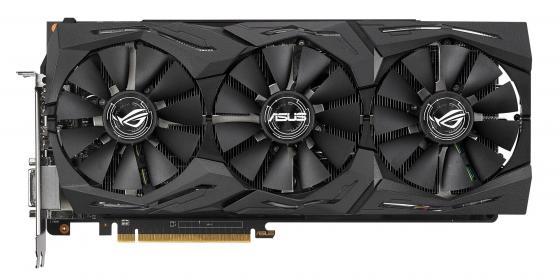 Видеокарта ASUS Radeon RX Vega 64 ROG-STRIX-RXVEGA64-O8G-GAMING PCI-E 8192Mb 2048 Bit Retail видеокарта asus rog strix rx570 o4g gaming rx 570 4гб gddr5 retail
