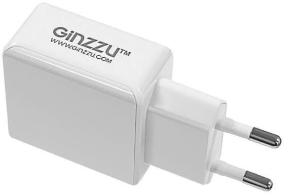 Сетевое зарядное устройство GINZZU GA-3313UW 3.1А USB белый сетевое зарядное устройство ginzzu ga 3003w usb 1 2a белый