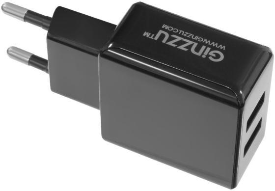 Сетевое зарядное устройство GINZZU GA-3311UB 3.1А 2 х USB черный ginzzu ga 3412ub black сетевое зарядное устройство кабель micro usb