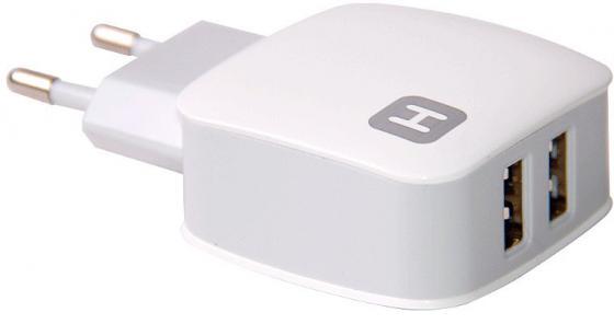Сетевое зарядное устройство Harper WCH-8220 2.4А 2 х USB белый olto wch 4200 сетевое зарядное устройство